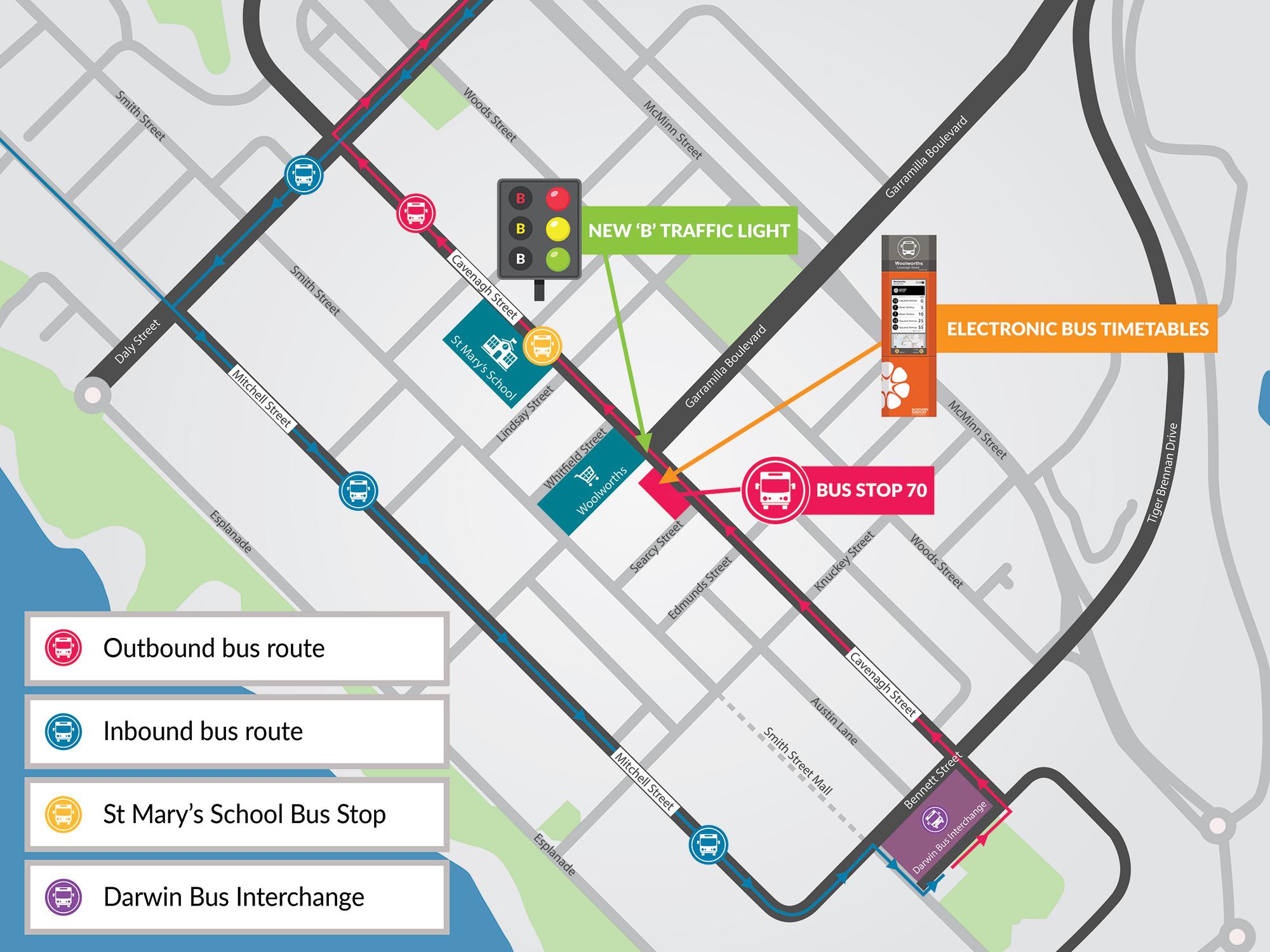 Darwin bus interchange map