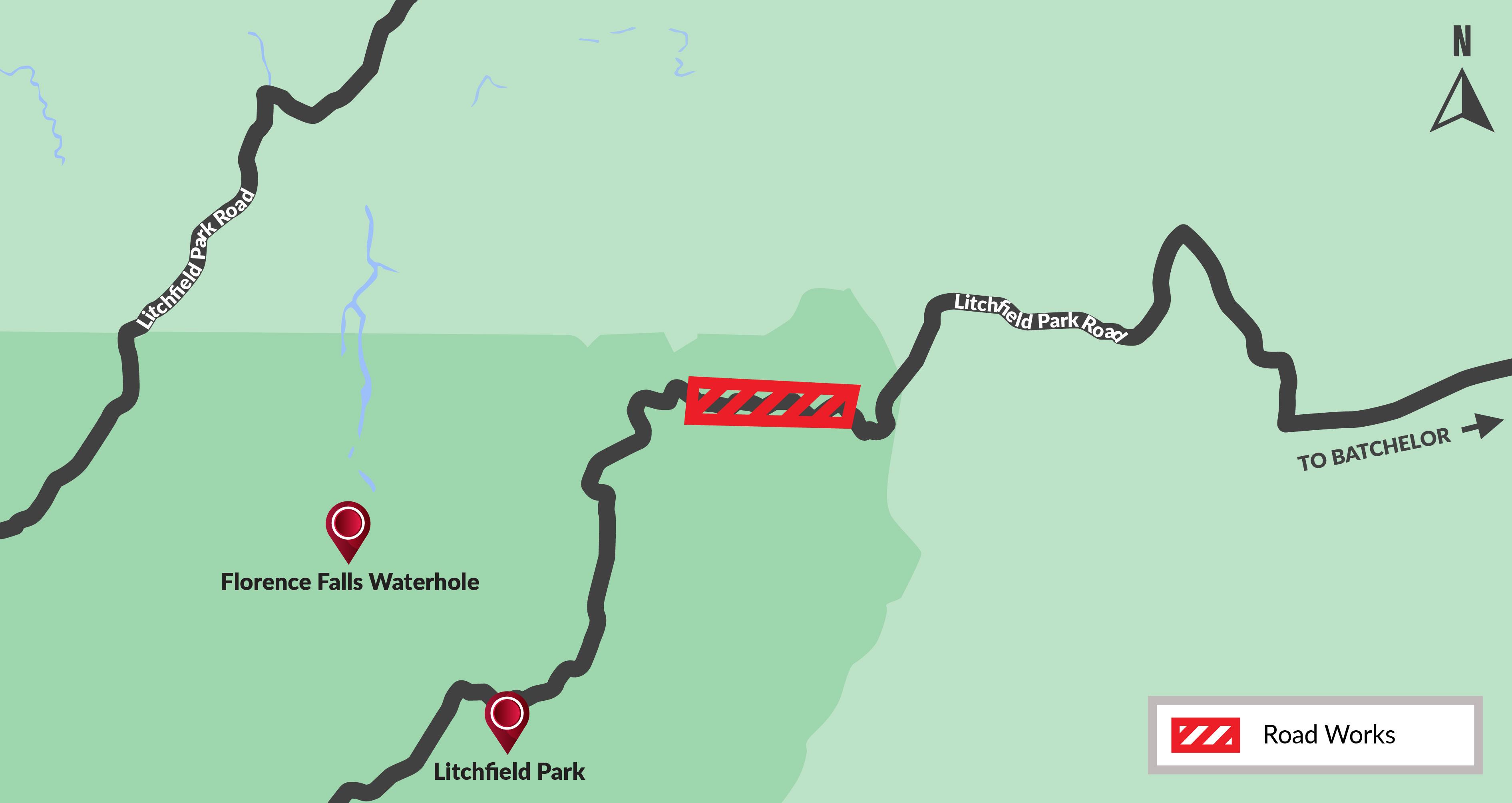Lichfield Park Road road widening map