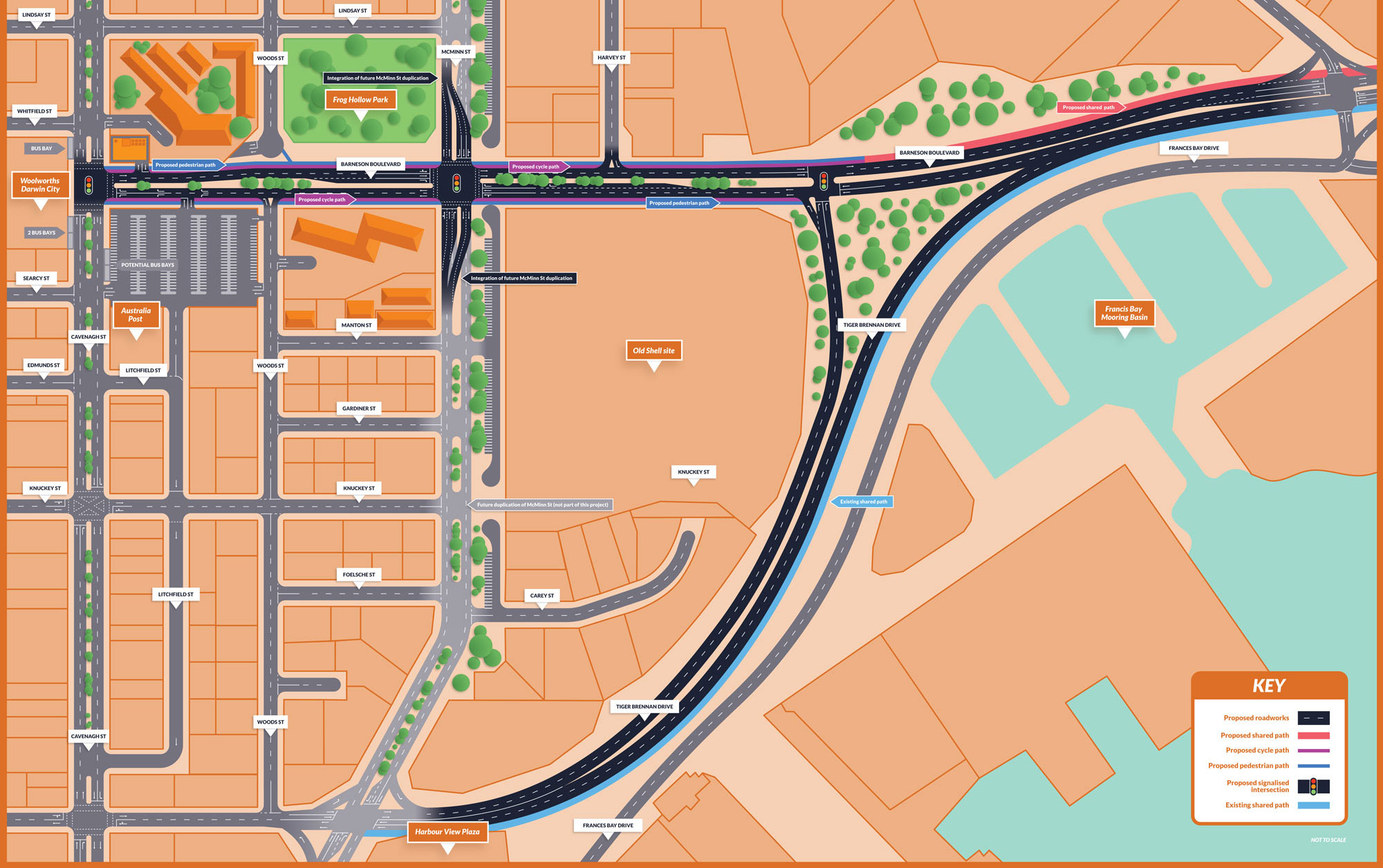 Barneson Boulevard Changes Map
