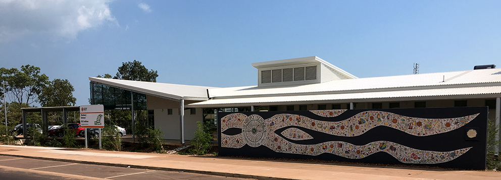 Henbury front and mural