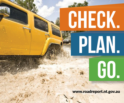check plan go text on image of car driving through water