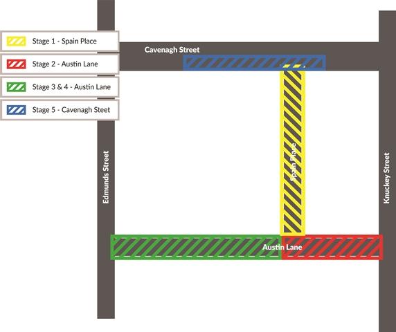 Austin Lane enhancement stages map