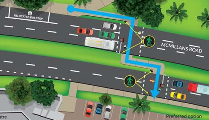 Provide feedback on the proposed McMillans Road pedestrian crossing