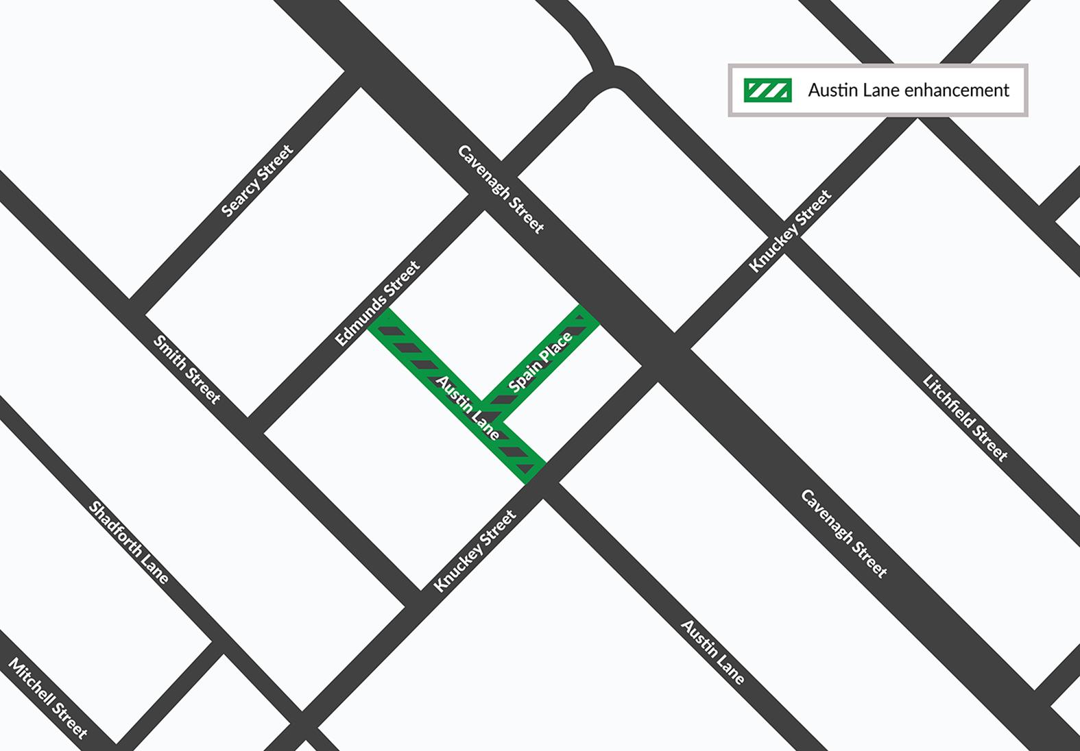Austin Lane enhancement map