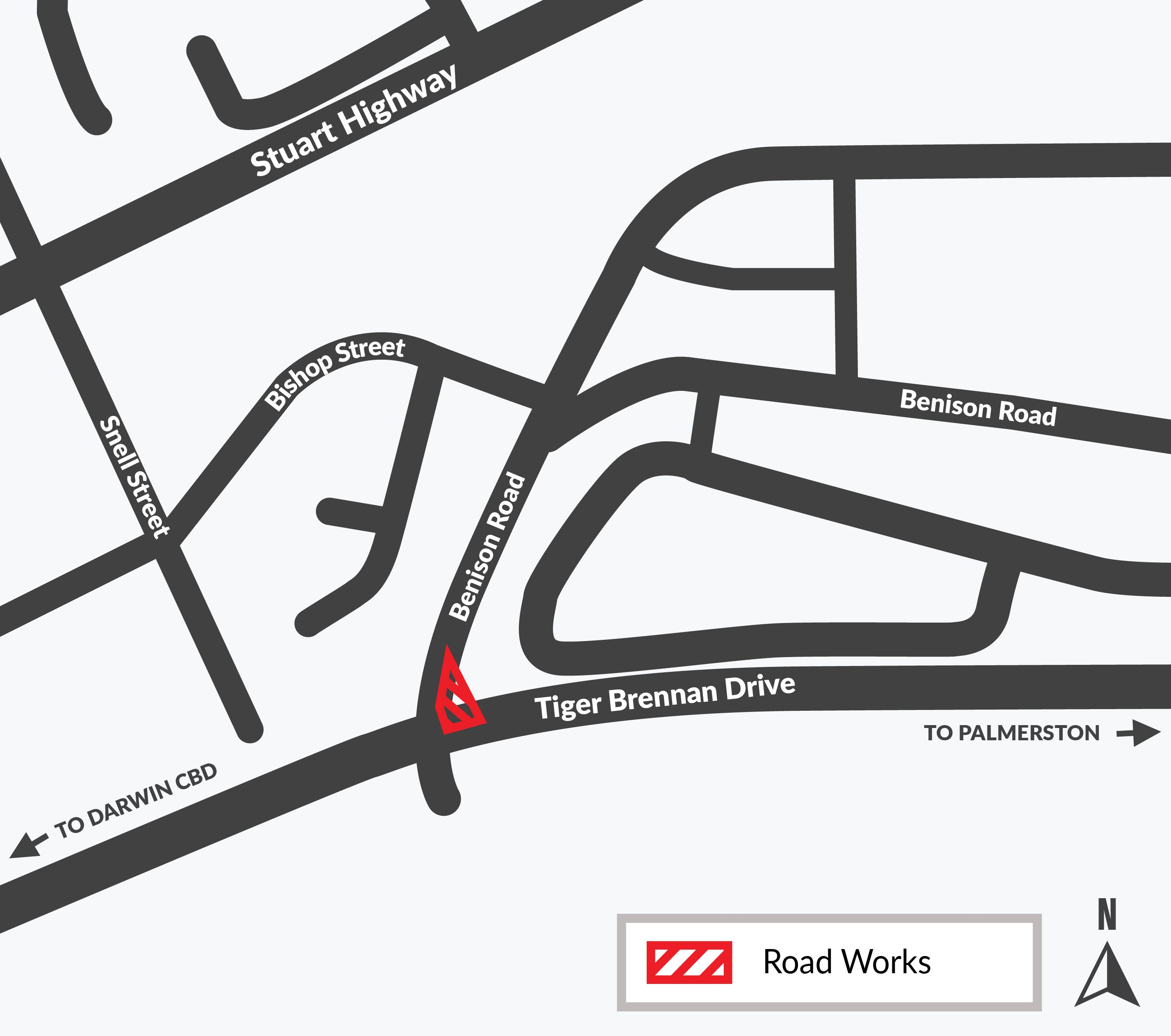 Tiger Brennan Drive - Benison Map