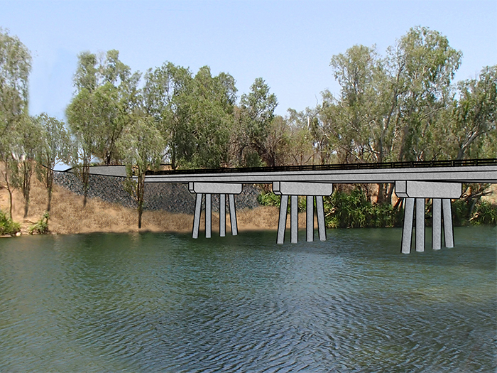 Artists impression Roper Bridge